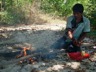 Snorkeling trips from  Ankermi Happy Dive: Fresh fish on the fire for lunch